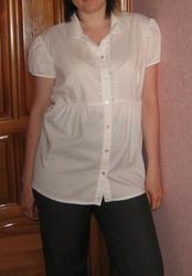 Белоснежная блуза для беременных